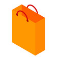 orange paper bag icon isometric style vector image vector image