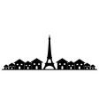paris skyline vector image vector image