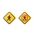 pedestrians road signs vector image vector image