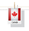 photo of canada flag vector image