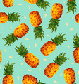 Pineapple fruit summer background in low poly vector image