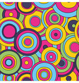 psychedelic circles seamless pattern vector image vector image