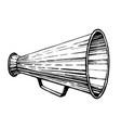 retro loudspeaker sketch vector image vector image