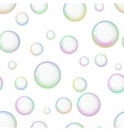 seamless pattern with colorful soap bubbles vector image vector image