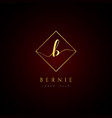 simple elegance initial letter b logo type sign vector image vector image
