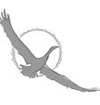 sketch of a bird in flight vector image vector image
