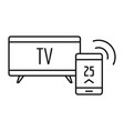 smart tv icon outline style vector image