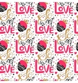 So sweet love seamless pattern vector image vector image