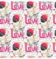 So sweet love seamless pattern vector image