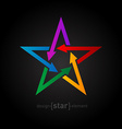 star with arrows on black background Abstract vector image vector image