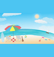 summer sea beach vector image vector image