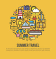 summer travel conceptual banner collection of vector image vector image
