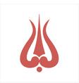 thrishula symbol vector image vector image