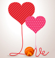 Valentine wool roll heart vector image vector image