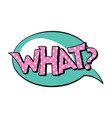 what speech bubble in retro style vector image vector image