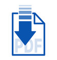 isolated blue arrow icon button with white paper vector image