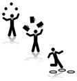 Business juggling vector image
