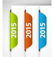 2015 Labels Stickers on the edge of the web page vector image