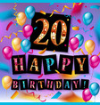 20th anniversary celebration logotype vector image vector image