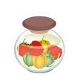 A Jar of Delicious Pickled Bell Peppers vector image vector image
