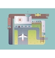 Airport top view vector image vector image