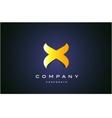 Alphabet letter X gold yellow logo icon design vector image
