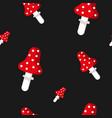amanita mushroom seamless vector image vector image