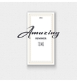 Amazing Cards labels stickers hand lettering vector image vector image