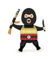 angry terrorist modern flat style vector image