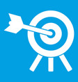 arrow hit the target icon white vector image