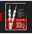 BBQ poster stylized like sketch drawing on the vector image vector image