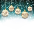 Beautiful Celebration Card with Christmas Balls vector image vector image