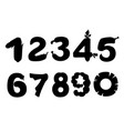 black silhouette set numbers style food cartoon vector image vector image