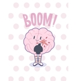 Boom brain poster vector image vector image