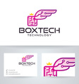 Box Wings Technology vector image vector image
