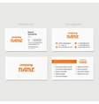 Business card design template for company vector image vector image