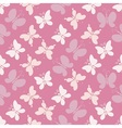 Butterflies in soft pink vector image