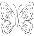 butterfly contours vector image vector image