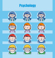 childrens psychology cartoons vector image