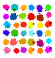 Colorful Splashes - Blot Stains Set vector image vector image