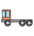 construction truck isolated icon vector image