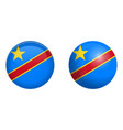 democratic republic of the congo flag under 3d vector image vector image