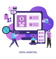 digital marketing and digital technologies vector image