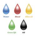 Droplets set vector image vector image