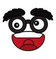 emoticon face cartoon vector image