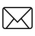 envelope close icon with outline style vector image