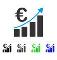 euro bar chart flat icon vector image vector image