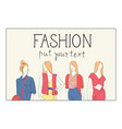 fashion collection of clothes set of male and vector image vector image