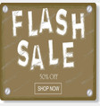 flash sale sign and banner vector image vector image