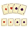 four aces playing cards spades attributes vector image